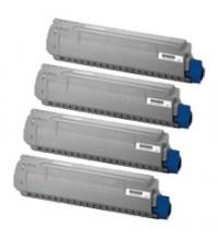 Toner compatibile rigenerato garantito 100% giallo OKIC823Y per OKI C823,C833,C834,C843