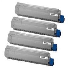 Toner compatibile rigenerato garantito 100% ciano OKIC823C per OKI C823,C833,C834,C843