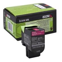 Lexmark originale toner magenta 80C20M0 802M circa 1000 pagine riutilizzabile