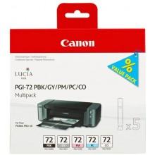Canon Multipack nero/magenta/ciano/Grigio/Trasparente PGI-72multi1 6403B007 5 cartucce PGI-72: PBK +GY +PM +PC +CO
