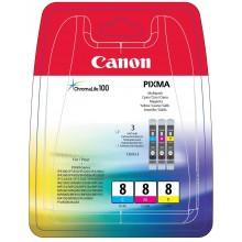 Canon Multipack ciano/magenta/giallo CLI-8multi 0621B029 CLI-8c + CLI-8m + CLI-8y a 13,0ml