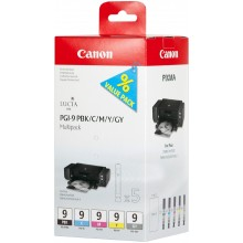 Canon Multipack nero/ciano/magenta/giallo/Grigio PGI-9multi2 1034B013 5 Cartucce PGI-9: PBK +C +M +Y +GY