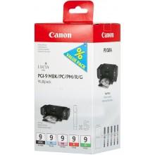 Canon Multipack nero/ciano/magenta/Rosso/Verde PGI-9multi1 1033B013 5 Cartucce PGI-9: MBK +PC +PM +R +G