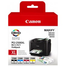 Canon Multipack nero/ciano/magenta/giallo PGI-2500 XL multi 9254B004 4 cartucce d'inchiostro PGI-2500 XL: bk+c+m+y