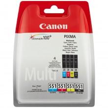 Canon Value Pack nero/ciano/magenta/giallo CLI-521 Photo Value Pack 2933B010