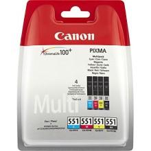 Canon Value Pack nero/ciano/magenta/giallo CLI-551 Photo Value Pack 6508B005