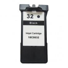 Cartuccia d'inchiostro nero Compatibile rigenerato garantito Lexmark 18CX032E 32