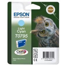 Epson Cartuccia d'inchiostro ciano (chiaro) C13T07954010 T0795 circa 560 pagine 11ml
