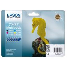 Epson Multipack nero / ciano / magenta / giallo / / C13T04874010 T0487 6 cartucce d'inchiostro: T0481 - T0486