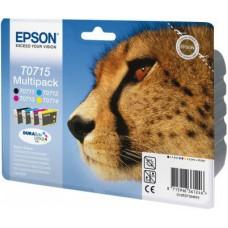 Epson Multipack nero / ciano / magenta / giallo C13T07154010 T0715 4 cartucce: T0711 + T0712 + T0713 + T0714