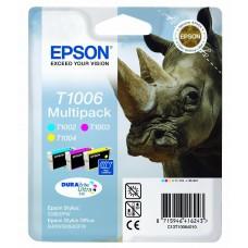 Epson Multipack ciano / magenta / giallo C13T10064010 T1006 3 cartucce d'inchiostro: T1002 + T1003 + T1004