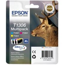 Epson Multipack ciano / magenta / giallo C13T13064010 T1306 3 cartucce d'inchiostro: T1302 + T1303 + T1304
