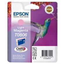 Epson Cartuccia d'inchiostro magenta chiara C13T08064011 T0806 circa 685 pagine 7.4ml