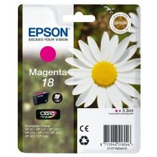 Epson Cartuccia d'inchiostro magenta C13T18034010 T1803 circa 180 pagine 3.3ml standard