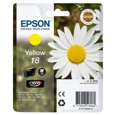Epson Cartuccia d'inchiostro giallo C13T18044010 T1804 circa 180 pagine 3.3ml standard