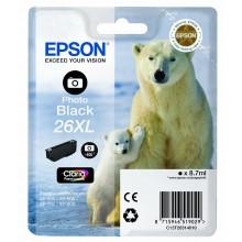 Epson Cartuccia d'inchiostro nero (foto) C13T26314010 T2631 8.7ml Cartucce XL, foto black