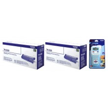 Brother Value Pack nero TN2320 MCVP TN-2320 2 Toner TN-2320 + P-touch H100LB