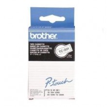 Brother nastro laminato nero su bianco TC-201 12 mm x 7,7 m, laminato