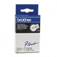 Brother nastro laminato nero su bianco TC-291 9 mm x 7,7 m, laminato