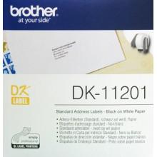 Brother Etichette DK-11201 etichette in carta per indirizzi, 29x90 mm bianco 400 et./rullo
