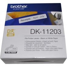 Brother Etichette DK-11203 etichette per raccoglitore, 17/87 mm bianco 300 et./ rullo