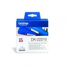 Brother Etichette DK-22210 etichetta a lunghezza continua, 29mm x 30,48m bianco