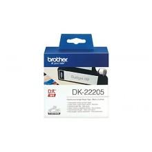 Brother Etichette DK-22205 etichetta a lunghezza continua, 62mm bianco 30,48m
