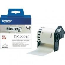 Brother Etichette DK-22212 etichetta a lunghezza continua, 62mm bianco 15,24m