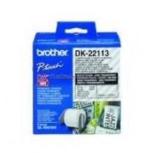 Brother Etichette DK-22113 etichetta a lunghezza continua, 62mm x 15,24m trasparente