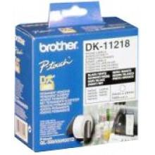 Brother Etichette DK-11218 etichetta rotonda, 24 mm bianco 1000 et./rullo