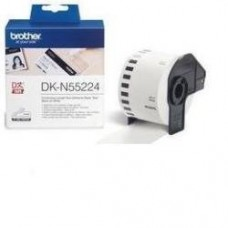 Brother Carta DK-N55224 DK-Tape Nastro, non adesivo, 54mm x 30,48m bianco