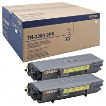 Brother Multipack nero TN3280TWIN TN-3280 2PK Double Pack 8.000 Pagine