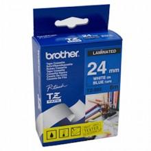 Brother nastro laminato bianco su blu TZe-555 TZ-555 24 mm x 8 m, laminato