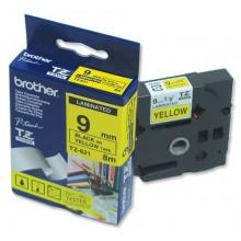 Brother nastro laminato nero su giallo TZe-621 TZ-621 9 mm x 8 m, laminato