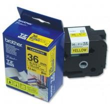 Brother nastro laminato nero su giallo TZe-661 TZ-661 36 mm x 8 m, laminato