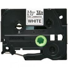 Brother nastro laminato nero su bianco TZe-N201 TZ-N201 3,5 mm x 8 m, non laminato