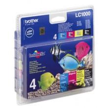 Brother Multipack nero/ciano/magenta/giallo LC1000VALBPDR LC-1000 confezione multi: bk/c/m/y