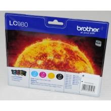Brother Multipack nero/ciano/magenta/giallo LC980VALBPDR LC-980 LC-980 BK/C/M/Y