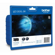 Brother Multipack nero LC-1280XLBKBP2DR LC-1280 XL 2 cartucce d'inchiostro LC-1280XLBK