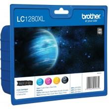 Brother Multipack nero/ciano/magenta/giallo LC1280XLVALBPDR LC-1280 XL 4 cartucce d'inchiostro LC-1280XL: BK+C+M+Y