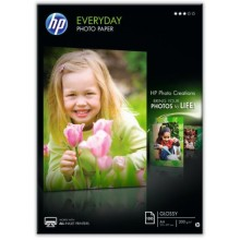 HP Carta  Q2510A Everyday Foto Papier, DIN A4, 200 g/mq², 100 Fogli, lucido