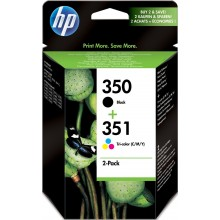 HP Multipack nero SD412EE 350+351 inchiostro: HP 350 - CB335EE + HP 351 - CB337EE