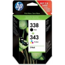 HP Multipack nero / differenti colori SD449EE 338+343 inchiostro: HP 338 - C8765EE + HP 343 - C8766EE