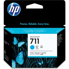 HP Cartuccia d'inchiostro ciano CZ134A 711 3-Pack 29 ml