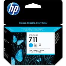 HP Cartuccia d'inchiostro ciano CZ134A 711 3-Pack 29 ml