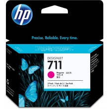 HP Cartuccia d'inchiostro magenta CZ135A 711 3-Pack 29 ml