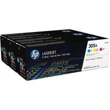HP Multipack ciano / magenta / giallo CF370AM 305A CE411A + CE412A + CE413A