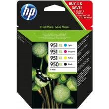 HP Multipack nero / ciano / magenta / giallo C2P43AE 950 XL / 951 XL 1x cartuccia HP 950XL + 3x cartucce HP 951XL: c +m +g
