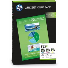 HP Value Pack ciano / magenta / giallo F6U78AE 935 XL 3 cartucce d'inchiostro: 935XL c/m/y + 25 pg. HP Professional Inkjet  carta opaco 180 g/mq² + 50 pg. HP All-in-One carta 80 g/mq²