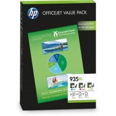 HP Value Pack ciano / magenta / giallo F6U78AE 935 XL 3 cartucce d'inchiostro: 935XL c/m/y + 25 pg. HP Professional Inkjet  carta opaco 180 g/mq² + 50 pg. HP All-in-One carta 80 g/mq²